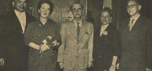 Hlavní iniciátor manifestace z 2. září 1945 Jaromír Plch coby čerstvý absolvent dálkového studia knihovnictví na snímku z roku 1957, otištěném v časopise Knihovník.